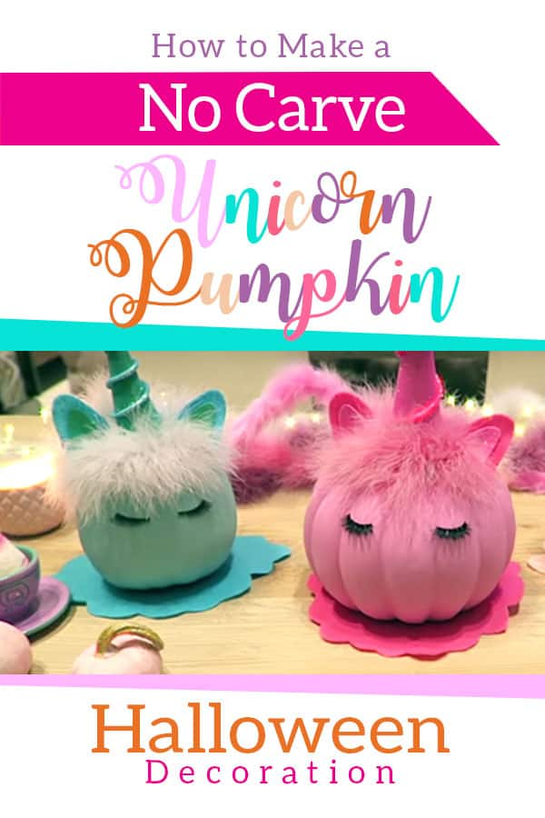 How to make a No Carve Unicorn Pumpkin Halloween Decoration