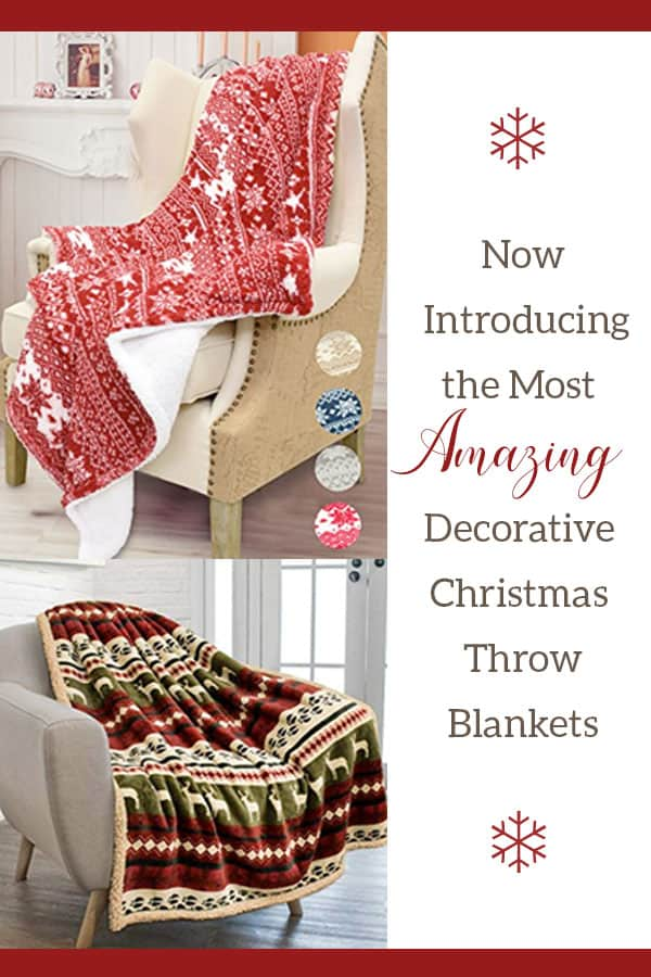 Decorative Christmas Throw Blankets