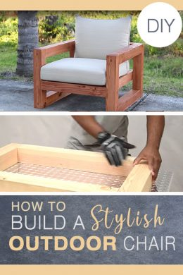 How to create an outdoor chair