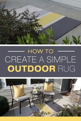 how to create a simple outdoor rug