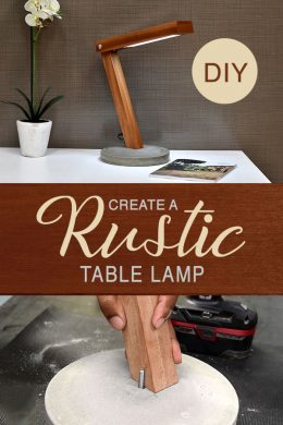 How to create a rustic lamp